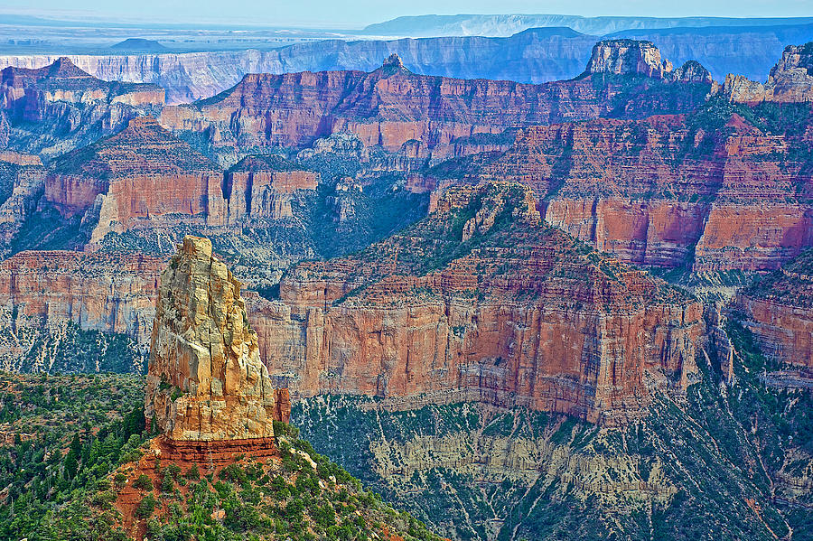 Arizona Photograph - Point Imperial At 8803 Feet On North Rim Of Grand Canyon National Park-arizona   by Ruth Hager