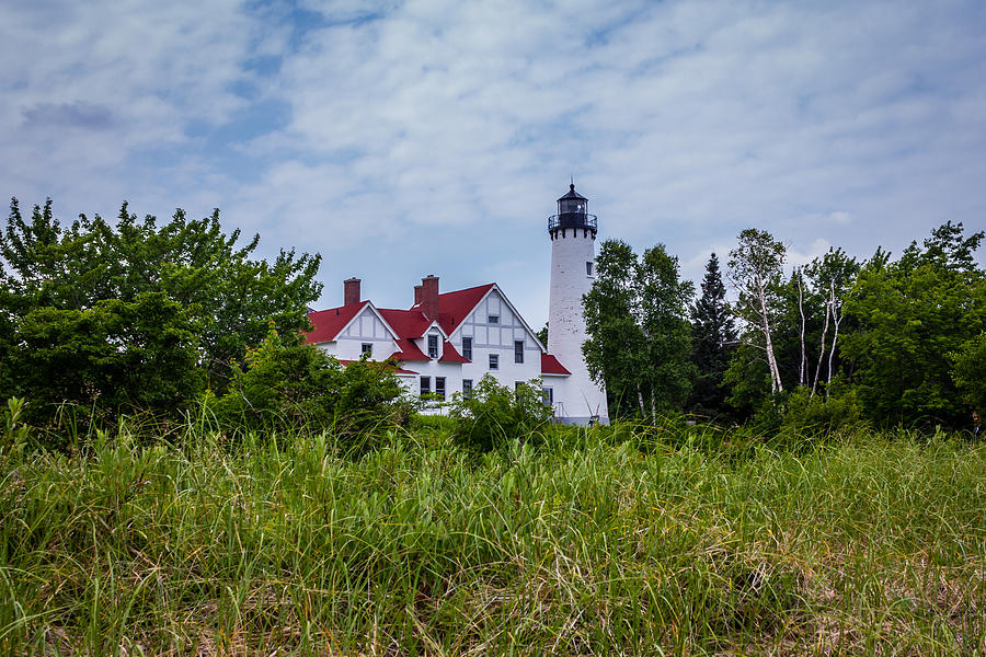 Light Photograph - Point Iroquois Lighthouse by Kimberly Kotzian