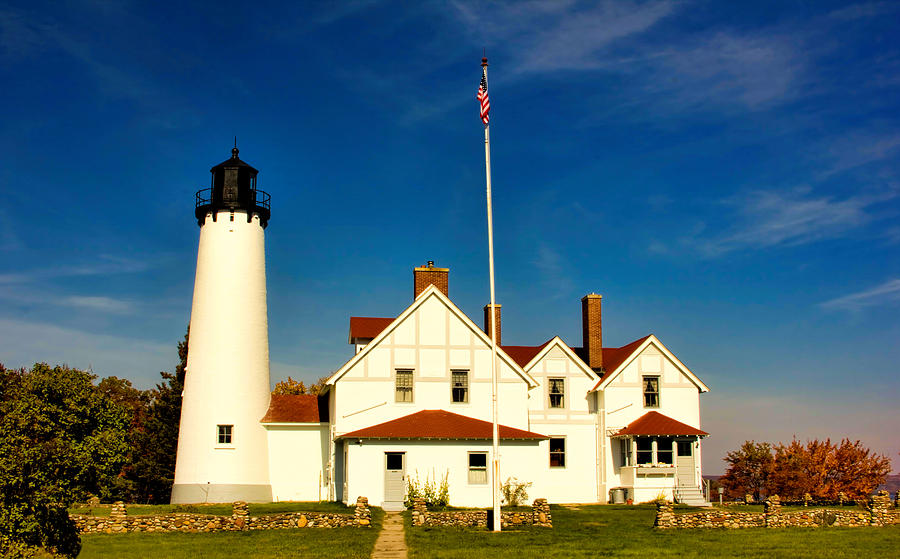 Mi Photograph - Point Iroquois Lighthouse by Pat Cook