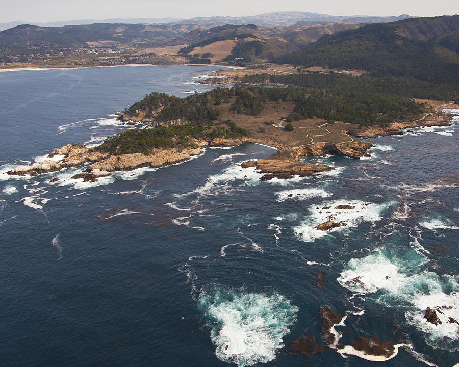 Nature Photograph - Point Lobos Aerial by Neal Martin