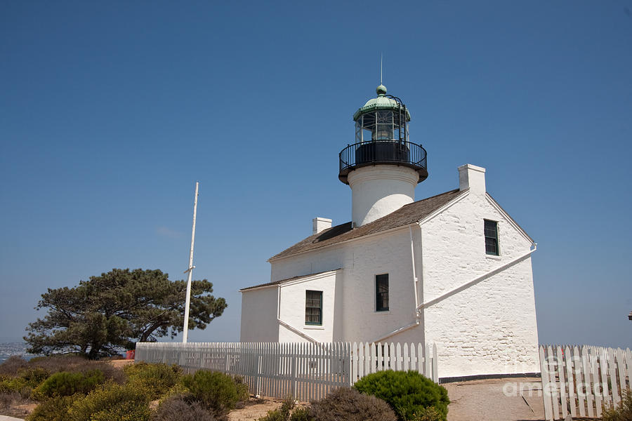 Lighthouse Photograph - Point Loma Lighthouse by Russell Christie