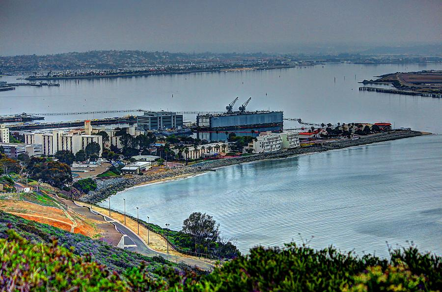 Point Loma Photograph - Point Loma Sub Base by Walt Miller