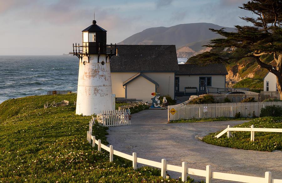 Point Montara Lighthouse Photograph - Point Montara Lighthouse  by Georgia Fowler