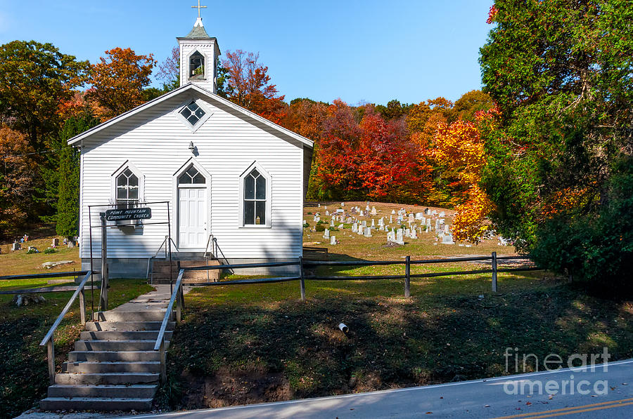 Church Photograph - Point Mountain Community Church - Wv by Kathleen K Parker
