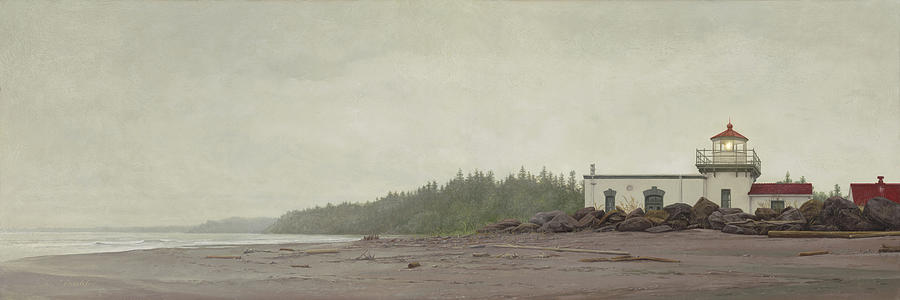 Point No Point Lighthouse by Ron Crabb