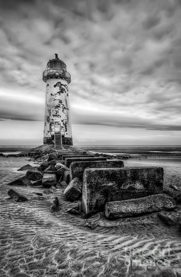 Lighthouse Photograph - Point Of Ayre Lighthouse by Adrian Evans