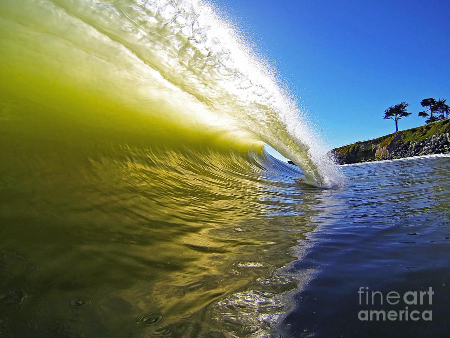 Wave Photograph - Point Of Contact by Paul Topp