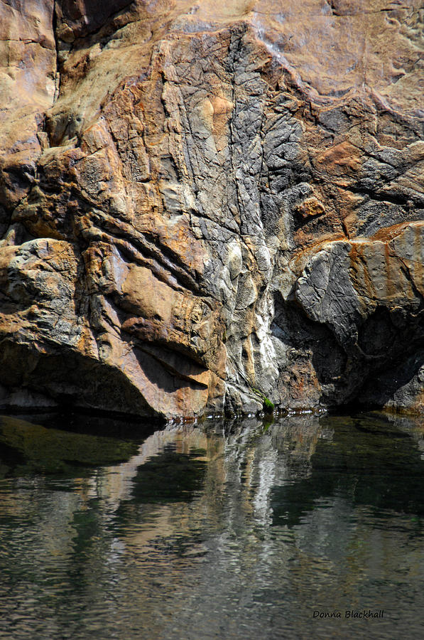 Rock Photograph - Point Of Impact by Donna Blackhall