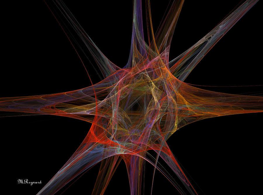 Digital Art Painting - Point Of Origin by Malcolm Regnard
