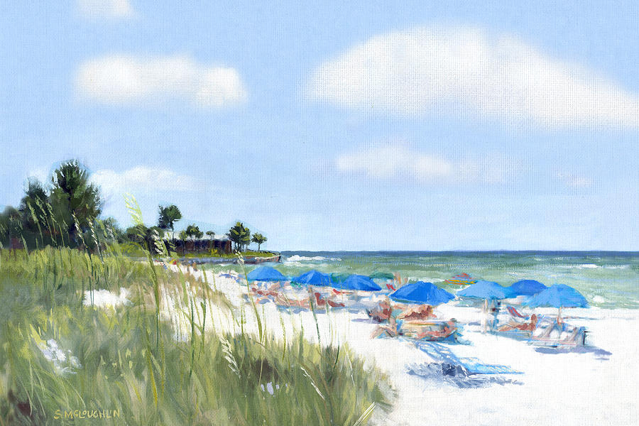 Crescent Beach Painting - Point Of Rocks On Siesta Key by Shawn McLoughlin