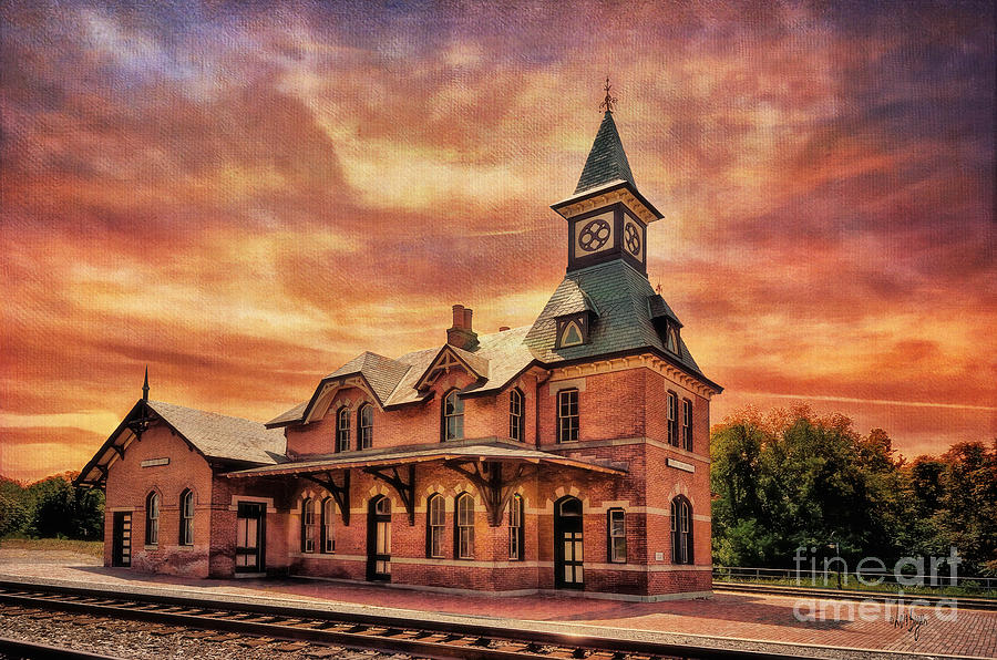 Point Of Rocks Photograph - Point Of Rocks Train Station  by Lois Bryan