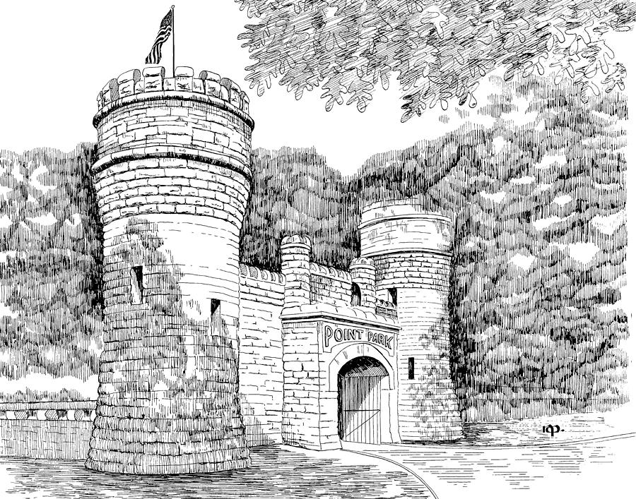 Point Park Drawing - Point Park by Robert Powell