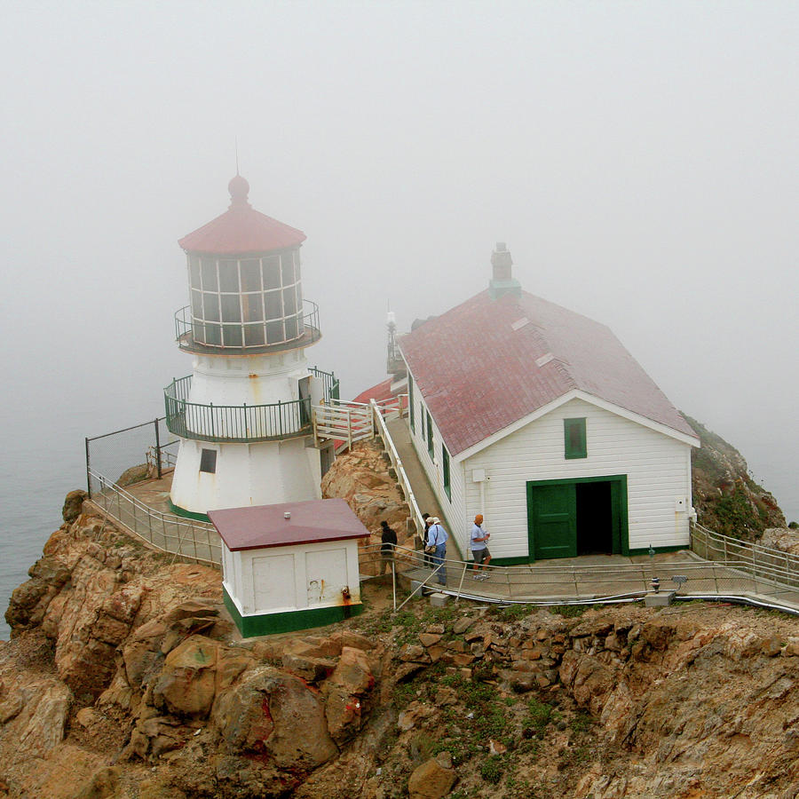 Point Reyes Lighthouse Photograph - Point Reyes Lighthouse by Art Block Collections
