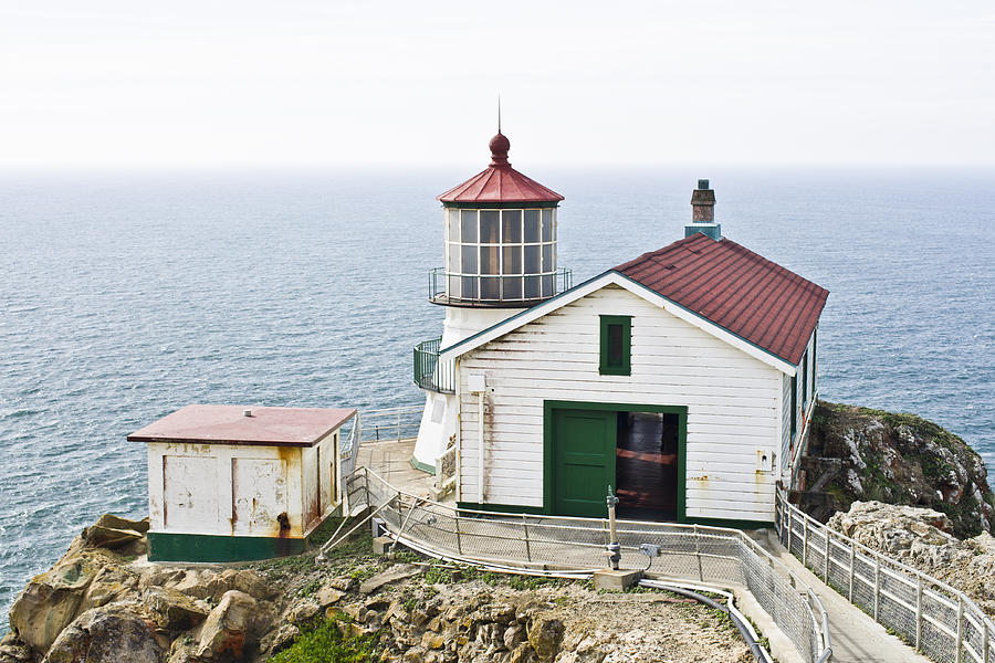 Lighthouse Photograph - Point Reyes Lighthouse by Priya Ghose