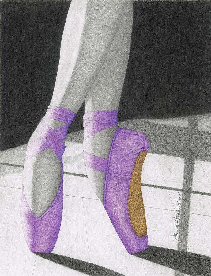 Pointe in Purple by Diana Hrabosky