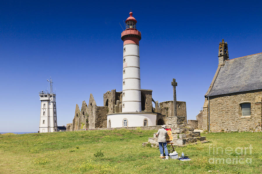 Abbey Photograph - Pointe Saint Mathieu Brittany France by Colin and Linda McKie