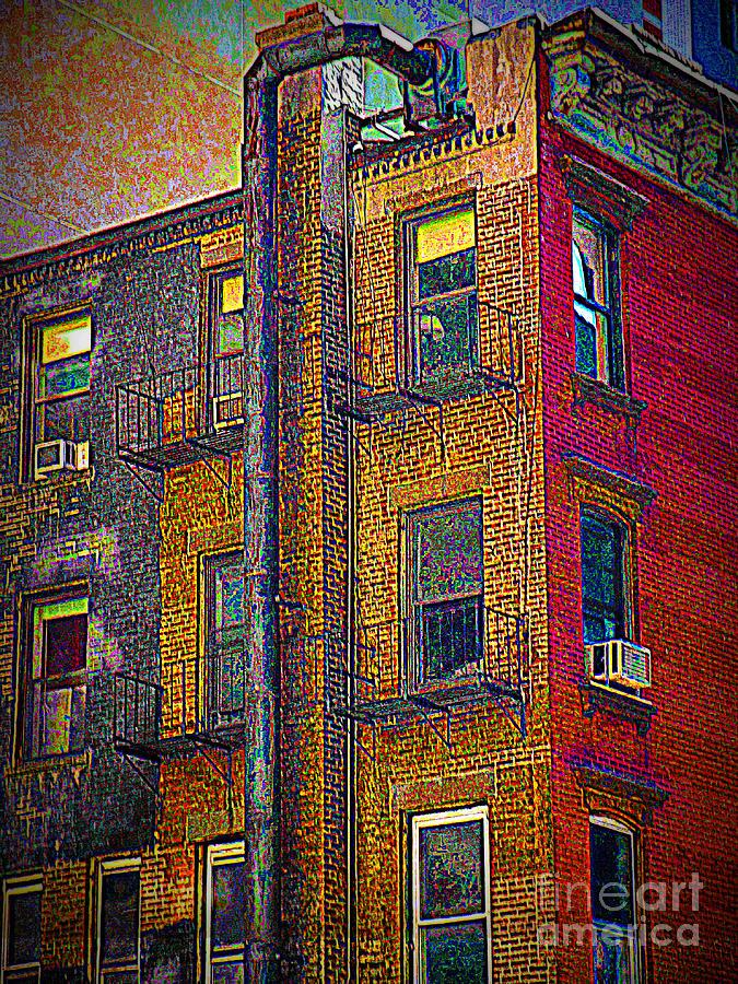 New York Photograph - Pointillism In Steel And Brick by Miriam Danar