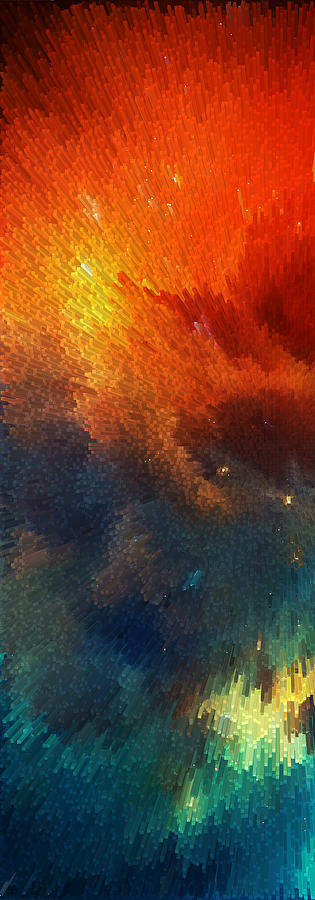 Space Painting - Points Of Light Abstract Art By Sharon Cummings by Sharon Cummings