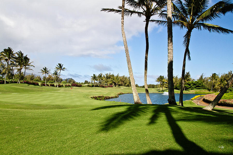 Golf Photograph - Poipu Bay #18 by Scott Pellegrin