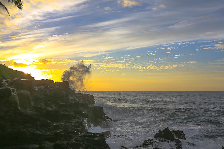 Ocean Photograph - Poipu Kauai Sunrise by Sam Amato