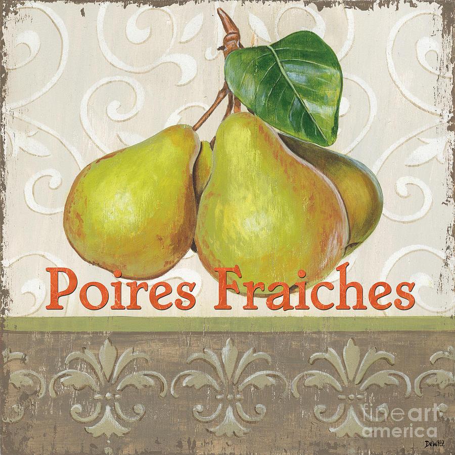 Kitchen Painting - Poires Fraiches by Debbie DeWitt