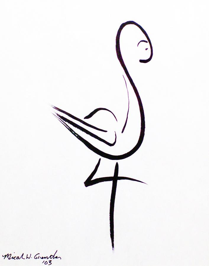 Abstract Drawing - Poise by Micah  Guenther