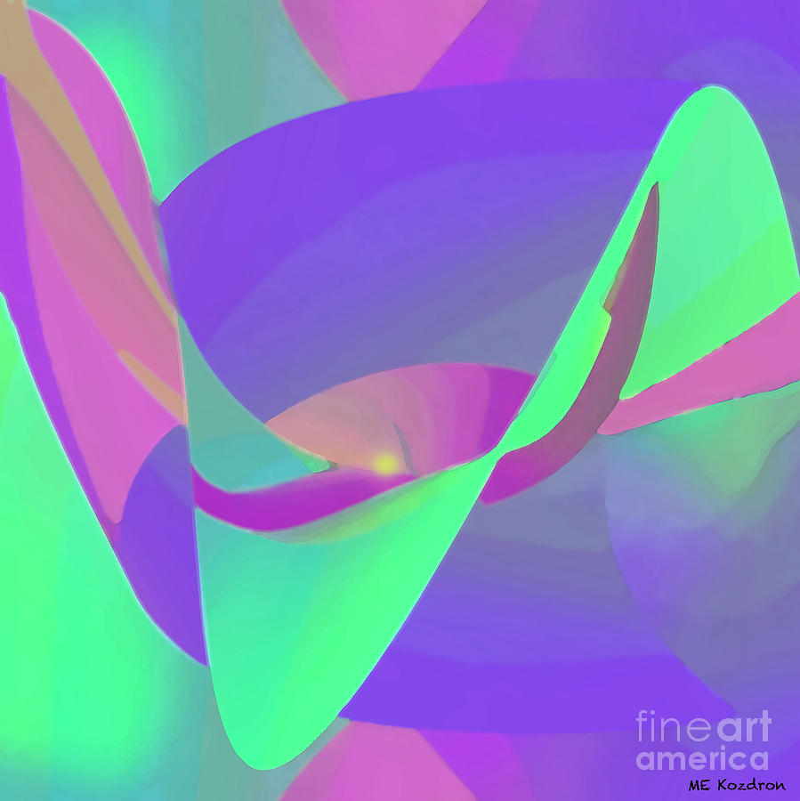 Abstract Digital Art - Poised by ME Kozdron