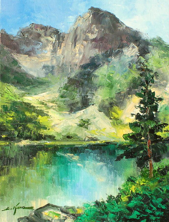 Mountain Painting - Poland - Morskie Oko by Luke Karcz