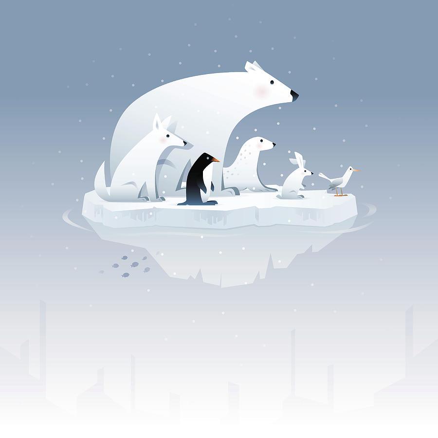 Polar Bear And Friends Digital Art by Id-work