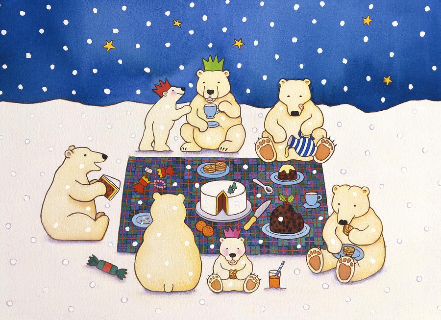 Открытки, открытки с белыми медведям