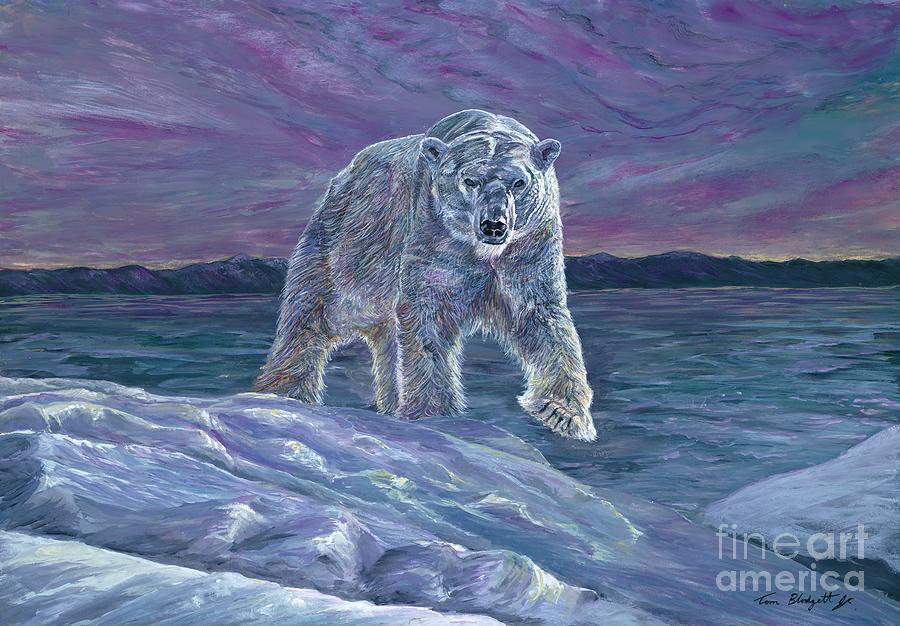 Polar Bear Painting - Polar Bear by Tom Blodgett Jr