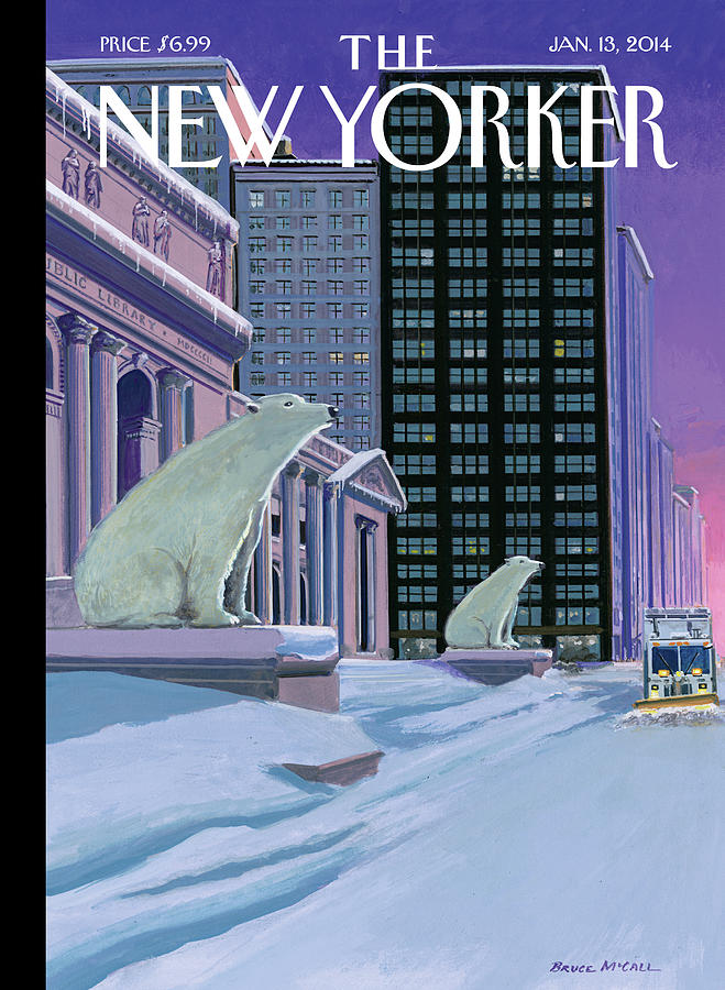 Nyc Painting - Polar Bears on Fifth Avenue by Bruce McCall
