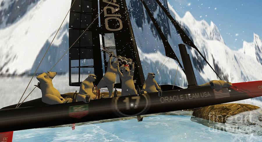 Oracle Team Usa Digital Art - Polar Cup  by John Mangino