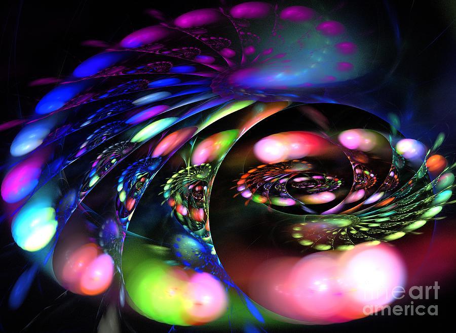Apophysis Digital Art - Polar Curve by Kim Sy Ok