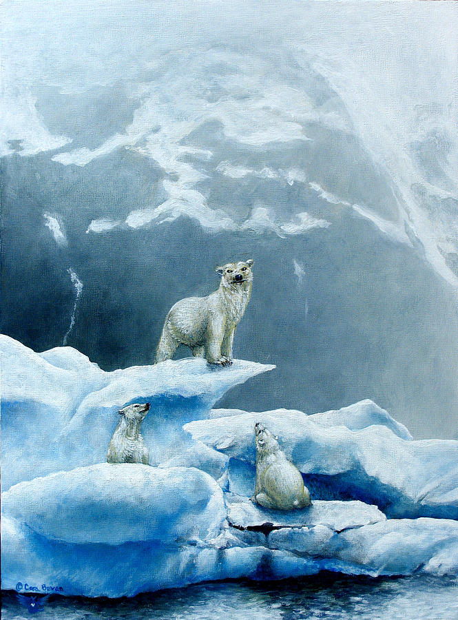 Polar Painting - Polar Knowledge by Cara Bevan
