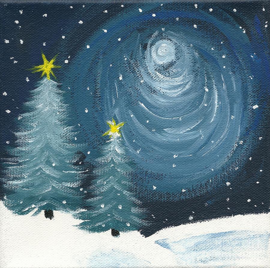 Polar Vortex Painting - Polar Vortex 2014 by Lynn Babineau