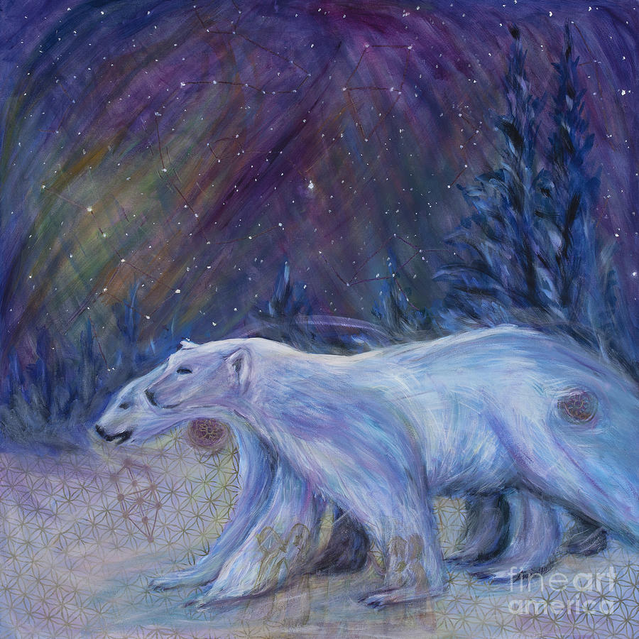 Sacred Geometry Painting - Polaris by Angie Bray-Widner