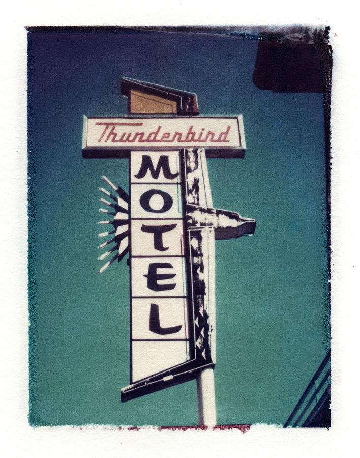 Motel Photograph - Polaroid Transfer Motel by Jane Linders