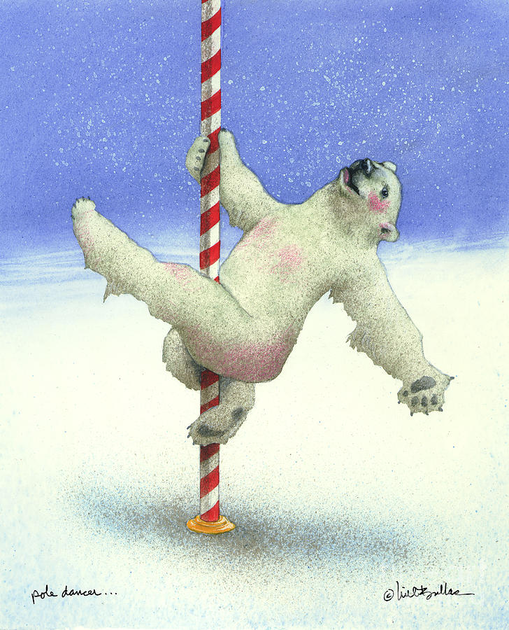Will Bullas Painting - Pole Dancer... by Will Bullas