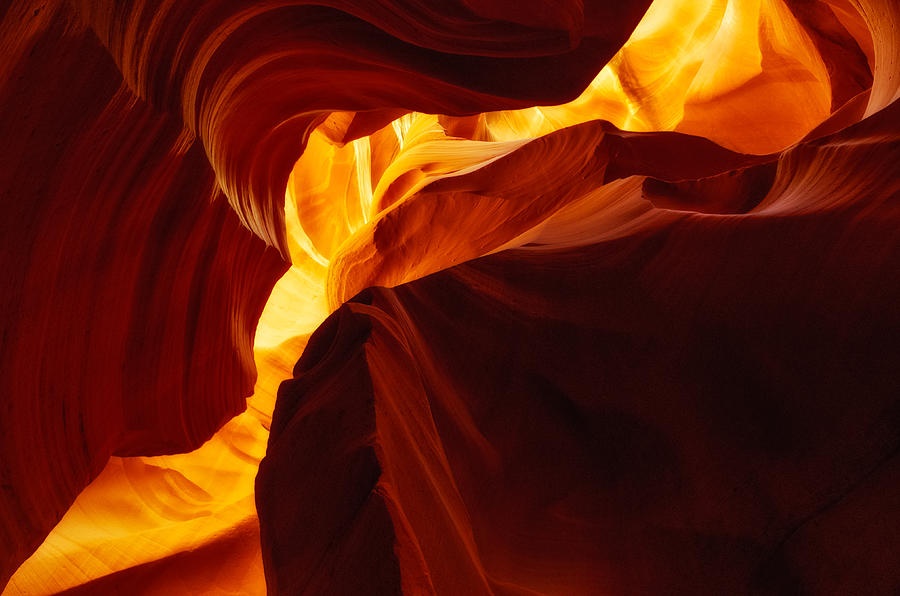Antelope Canyon Photograph - Poles Apart by Roger Chenery