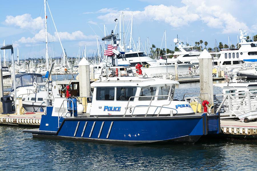 Police Boat Photograph By Joe Belanger