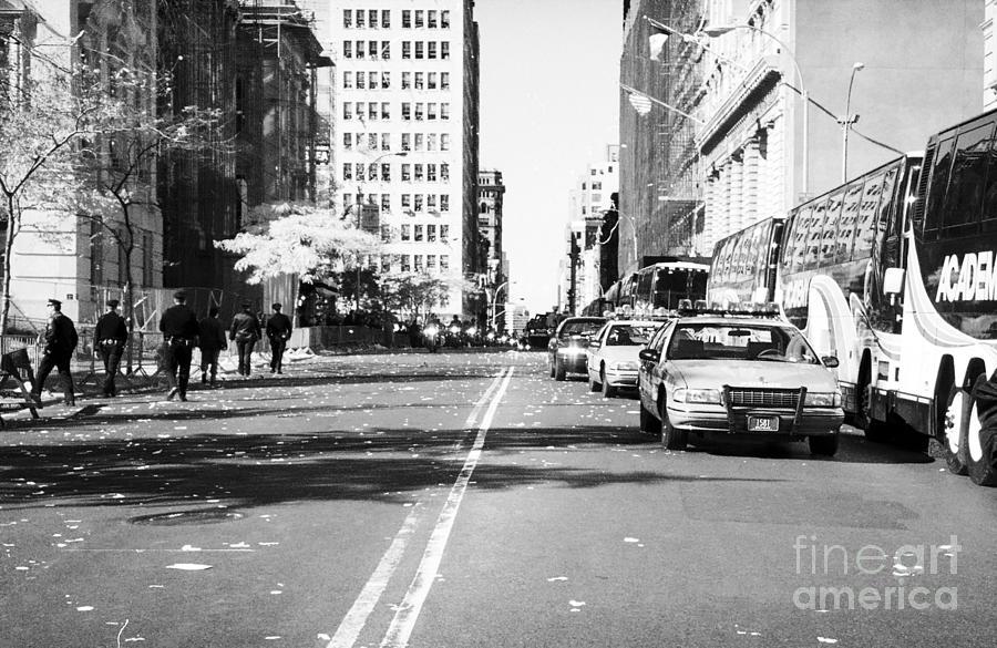 Police Escort Photograph - Police Escort 1990s by John Rizzuto