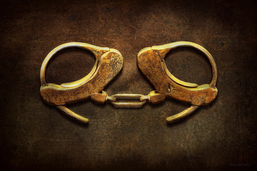 Handcuffs Photograph - Police - Handcuffs Arent Always A Bad Thing by Mike Savad
