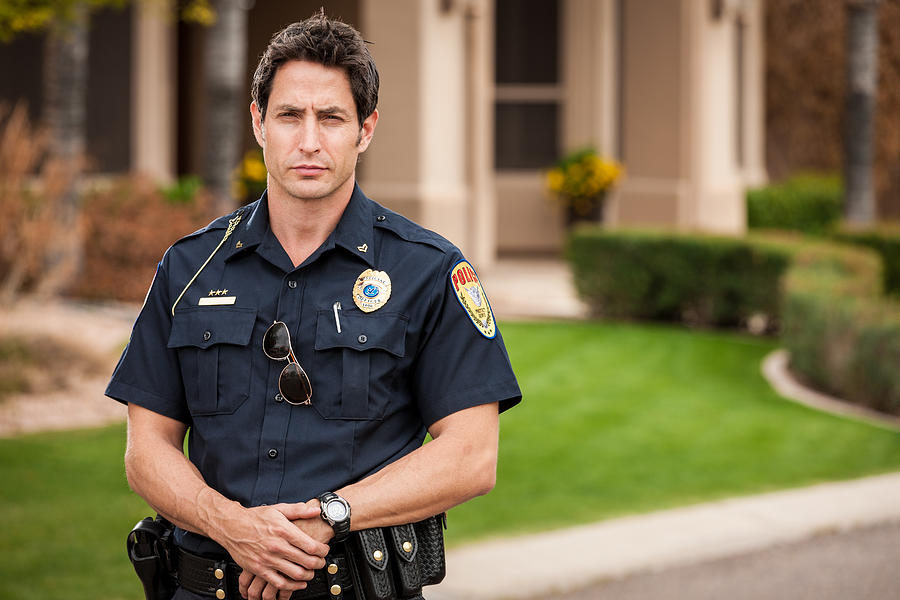 Police Officer Portrait Photograph by Avid_creative