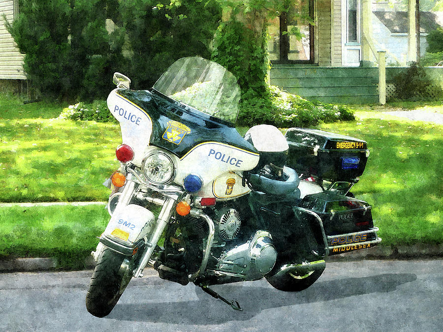 Motorcycle Photograph - Police - Police Motorcycle by Susan Savad