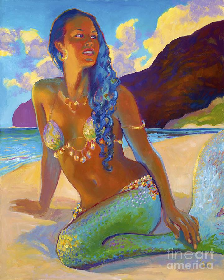 Mermaid Painting - Polihale Mermaid by Isa Maria