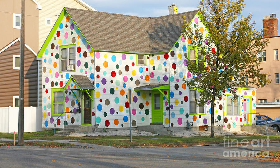 House Photograph - Polka Dot House by Steve Augustin