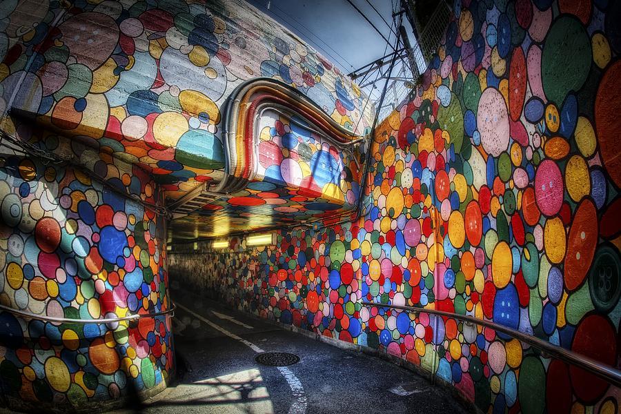 Japan Photograph - Polkadot Underpass In Tachikawa by Rscpics