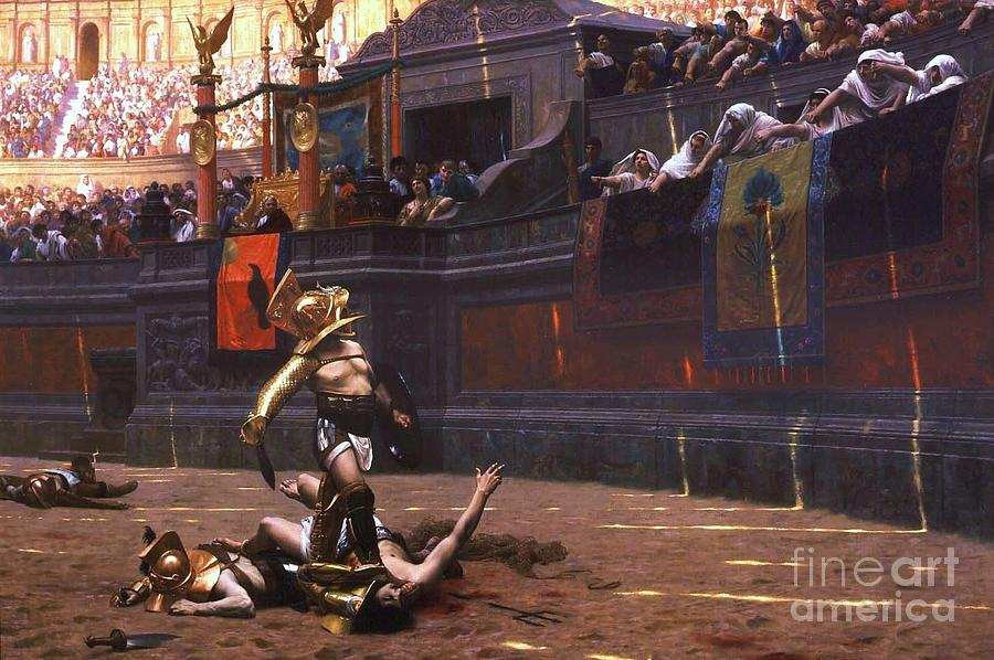 Pd Painting - Pollice Verso by Pg Reproductions