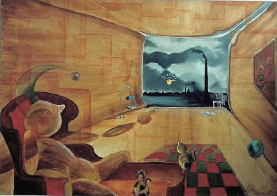 Fantasy Painting - Pollution by Blima Efraim